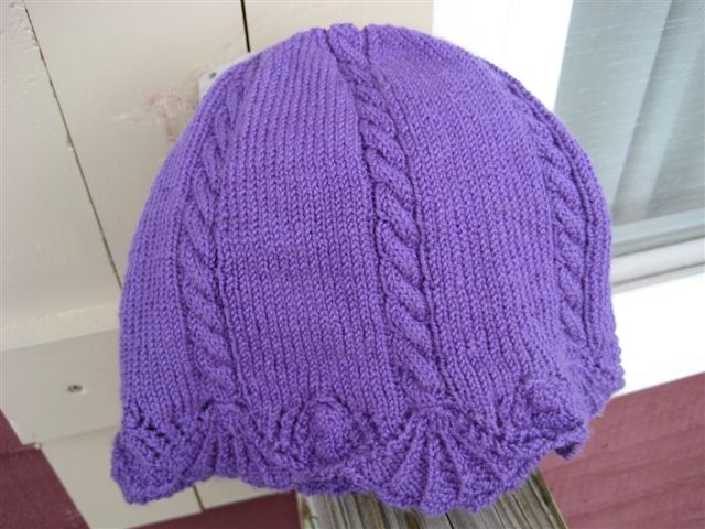 Chapeau Marnier for the brim, with a simple cabled crown
