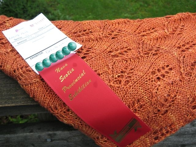 first place ribbon winner, Nova Scotia Provincial Exhibition 2008.