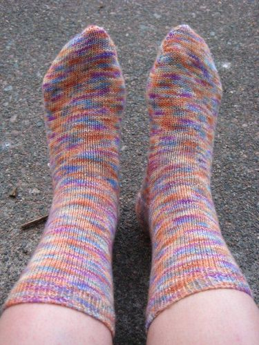 Abstract yarns, vanilla toe-up