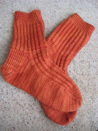 Garter rib in Socks that Rock